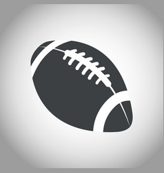 ball american football black and white vector image
