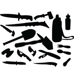 Camping tools vector