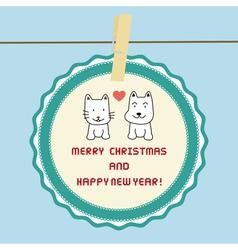 Christmas greeting card37 vector