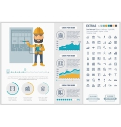 Constraction flat design infographic template vector