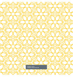 Cute yellow flower pattern on white background vector