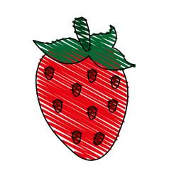 Delicious strawberry icon imag vector