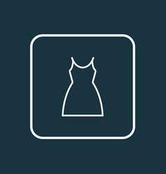 dress outline symbol premium quality isolated vector image vector image