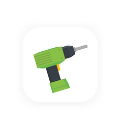 electric screwdriver icon vector image