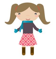 girl in winter vector image