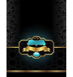 golden luxury vector image vector image