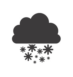 gray silhouette with cumulus of clouds and snow vector image