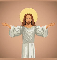 Jesus christ religious praying image vector