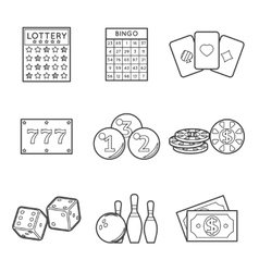 Lottery icon set vector image vector image