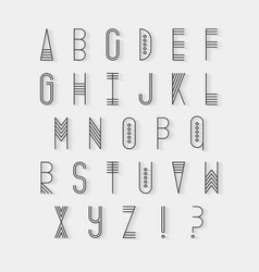 Original ethnic latin alphabet set vector image