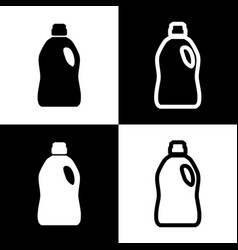 Plastic bottle for cleaning black and vector