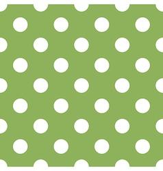 Seamless green polka dot vector