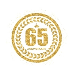Template logo 65 years anniversary vector