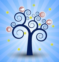 The social network tree vector image