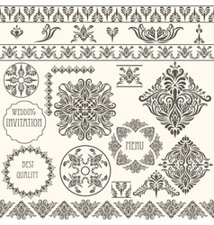 vintage design elements retro vector image
