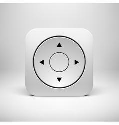 White Abstract Joystick App Icon Button Template vector image vector image