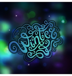 Winter abstract hand lettering vector