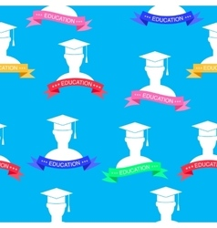 with education elements pattern vector image vector image