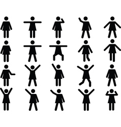 Woman pictograms vector image vector image