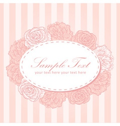 Flower stripe invitation love card vector