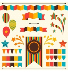 Collection of decorative elements for holiday vector image