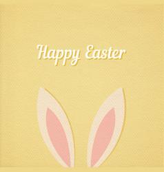 Easter bunny ears card vector