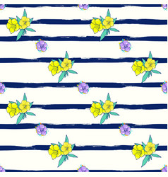 Exotic colorful flowers on a white-blue background vector