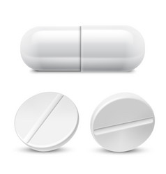 Medicine pills collection vector