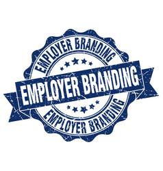 Employer branding stamp sign seal vector