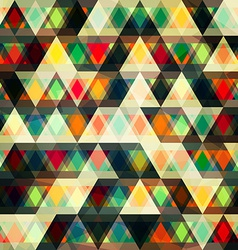 mosaic triangles seamless pattern vector image