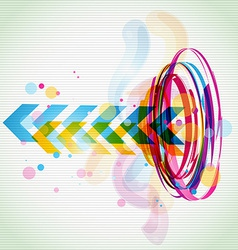 Funky style colorful design vector