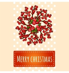 Simple bright christmas card with greetings vector