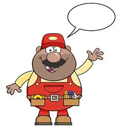 Talking Mechanic Cartoon vector image