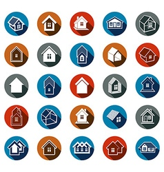 Different houses icons for use in graphic design vector