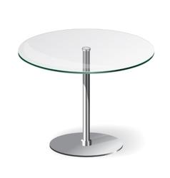 Modern glass table vector
