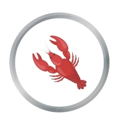 Boiled lobster icon in cartoon style isolated on vector image