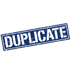 Duplicate square grunge stamp vector