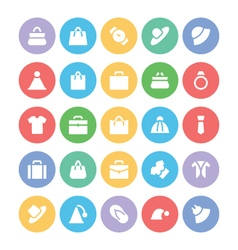 Fashion colored icons 1 vector