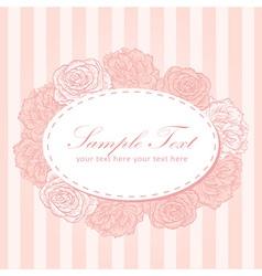 Flower stripe invitation love card vector