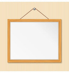 frame on the wall vector image vector image