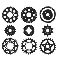 Gear wheel icons set vector