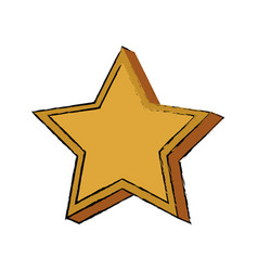 Gold star win trophy honor image vector