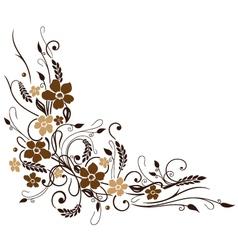 Grain flowers vector image vector image
