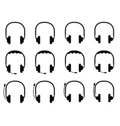 Headsets vector image