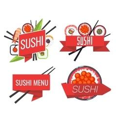 Japanese sushi bar or restaurant menu set vector image vector image