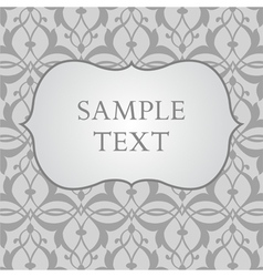 Labels on Gray Damask Background vector image vector image