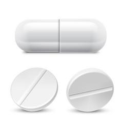 Medicine pills collection vector