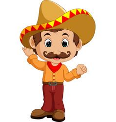 Mexican cartoon character vector