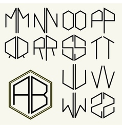 Set 2 template letters to create monograms vector
