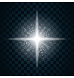 Sparkle light star 10 vector